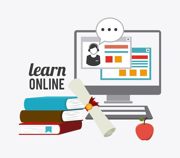 E-learning ontwerp. Premium Vector