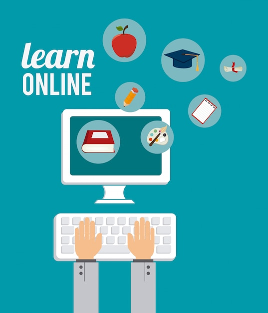 E-learning ontwerp. Premium Vector