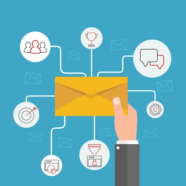 E-mailbericht concept Premium Vector