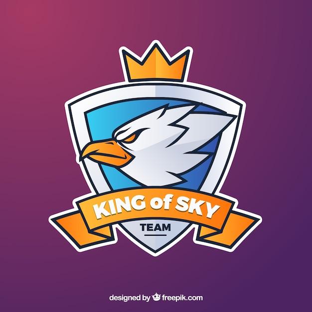 E-sport team logo sjabloon met adelaar Premium Vector