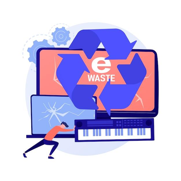 E-waste reductie abstract concept Gratis Vector