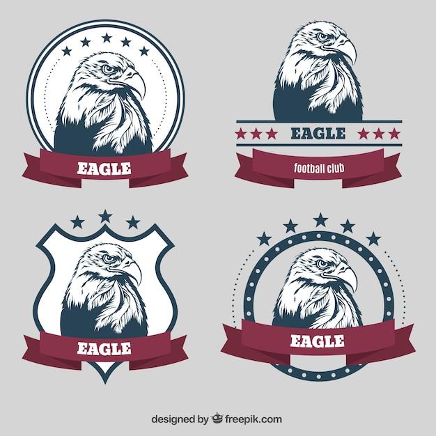 Eagle badges Gratis Vector