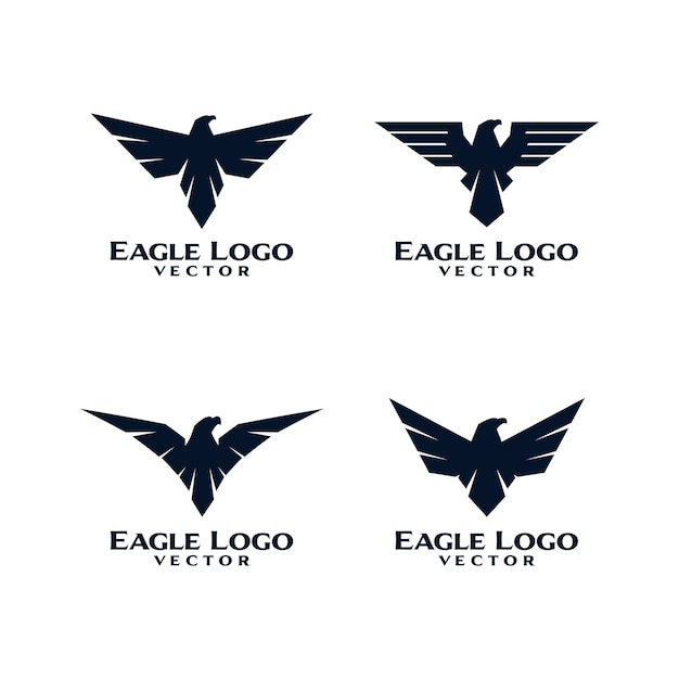 Eagle bird logo template vector Premium Vector