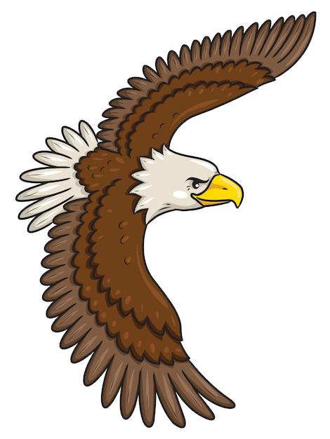 Eagle cartoon style Premium Vector