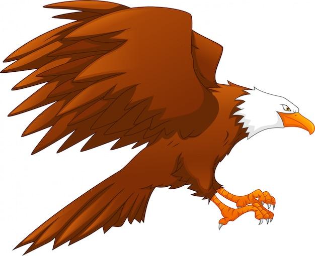 Eagle cartoon Premium Vector