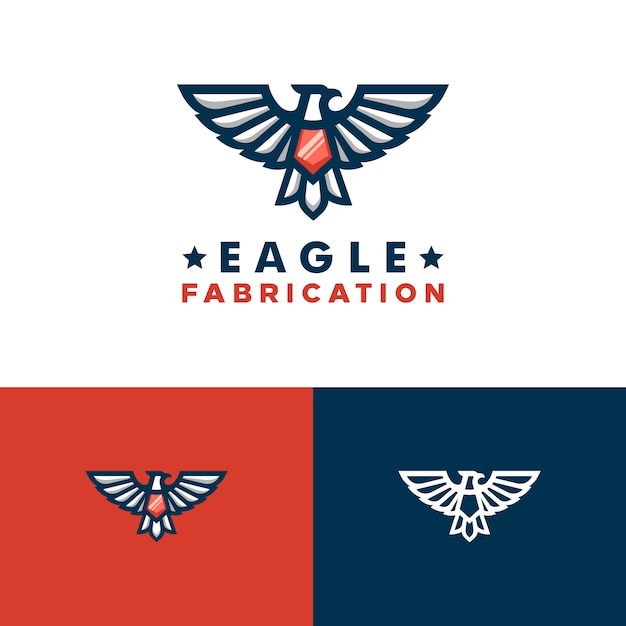 Eagle concept illustratie vector ontwerpsjabloon Premium Vector