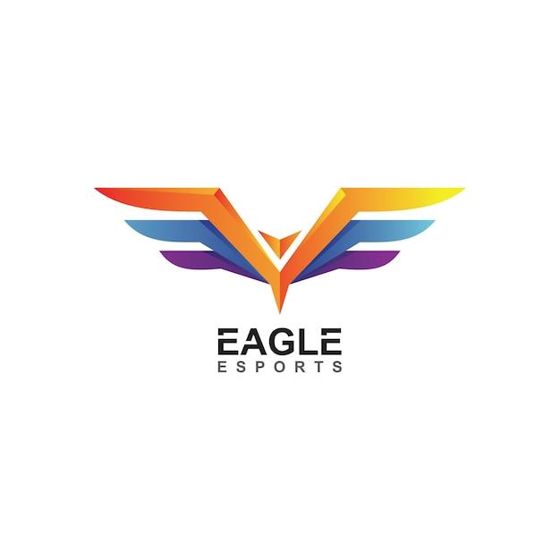 Eagle e-sports-logo in vector Premium Vector
