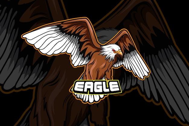 Eagle e-sports team logo sjabloon Premium Vector