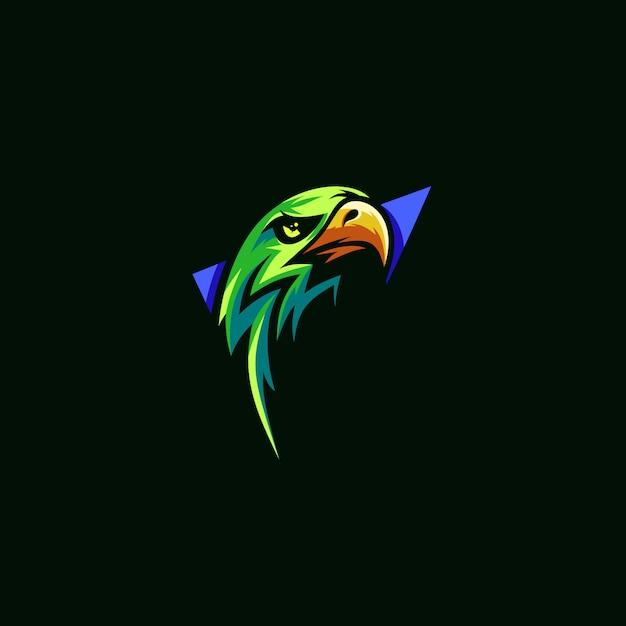 Eagle eenvoudig premium-logo Premium Vector