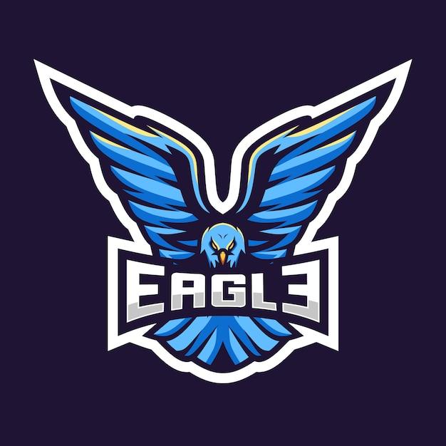 Eagle esport logo illustratie geweldig ontwerp Premium Vector