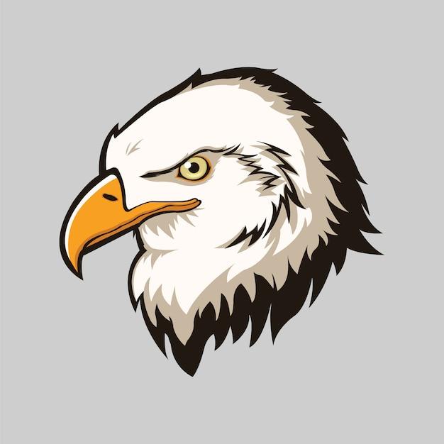 Eagle hoofd geïsoleerde achtergrond Gratis Vector