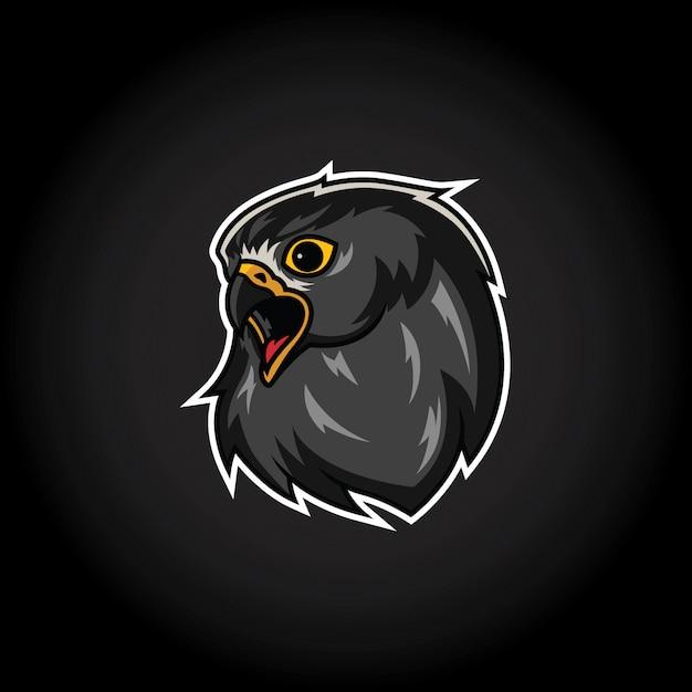 Eagle hoofd mascotte logo sjabloon Premium Vector
