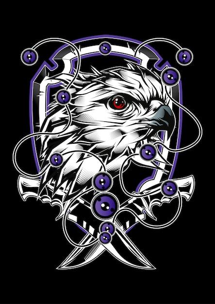 Eagle illustratie Premium Vector