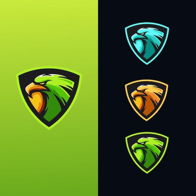 Eagle-logo collectie Premium Vector
