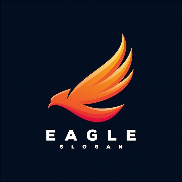 Eagle-logo klaar voor gebruik Premium Vector