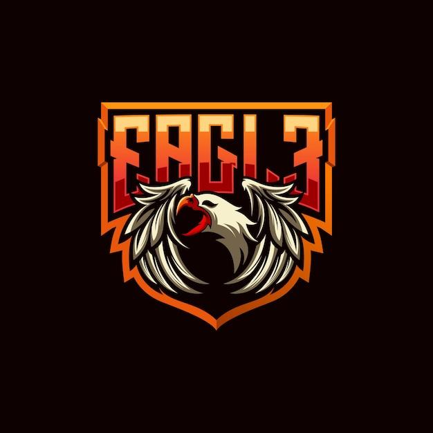 Eagle logo-ontwerp Premium Vector