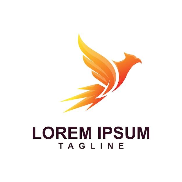 Eagle logo premium met moderne kleur Premium Vector