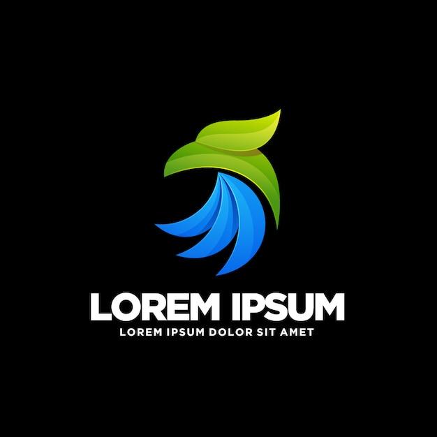Eagle logo sjabloon Premium Vector