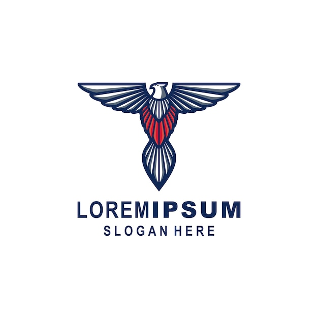 Eagle logo sjabloon Premium Vector