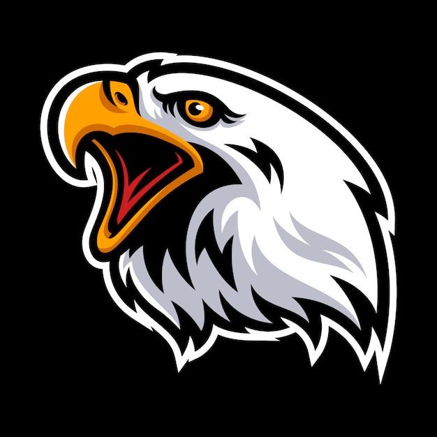 Eagle-logo voor een sportteam Premium Vector
