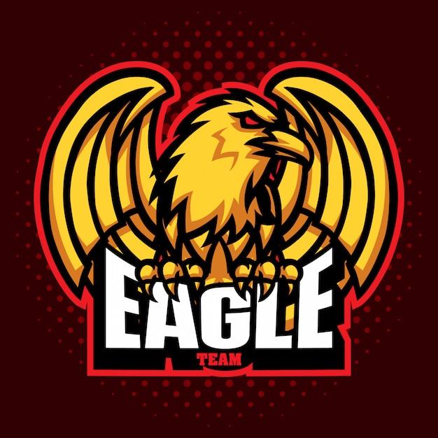 Eagle-mascottes Premium Vector