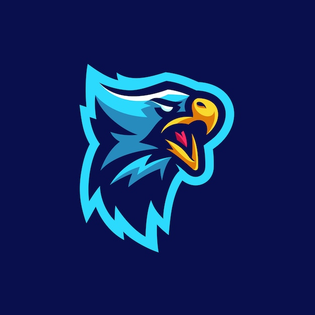 Eagle sports tournament vector illustratie sjabloon Premium Vector