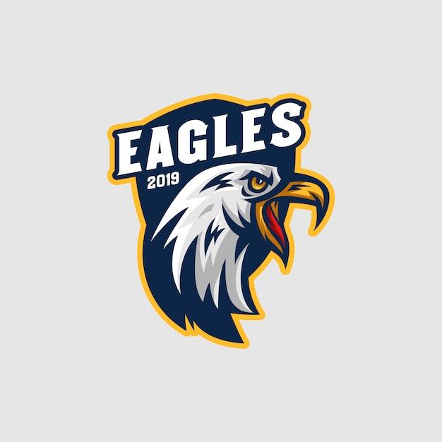 Eagles mascot-logo Premium Vector