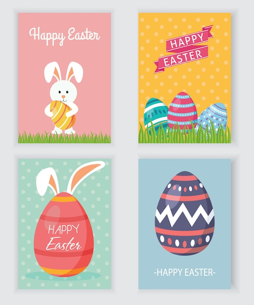 Easter party flyer Premium Vector