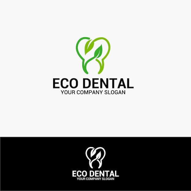 Eco dental logo Premium Vector