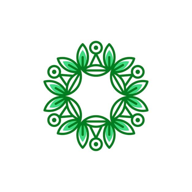 Eco floral logo sjabloon vectorillustratie Premium Vector