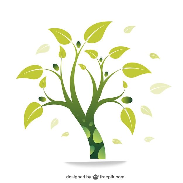 Eco groene boom vector Gratis Vector