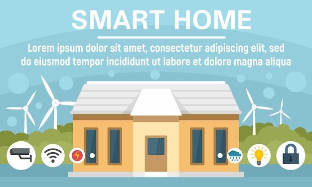 Eco slimme huis concept banner Premium Vector