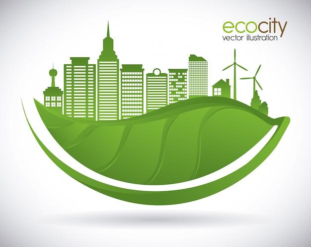 Eco stad Premium Vector