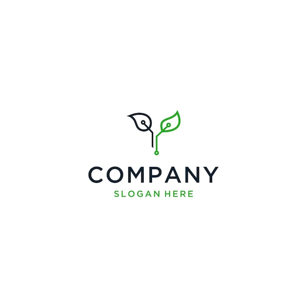 Eco technology-logo, letter y eco-logo Premium Vector