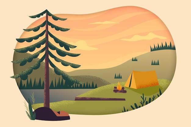Eco toerisme concept Gratis Vector