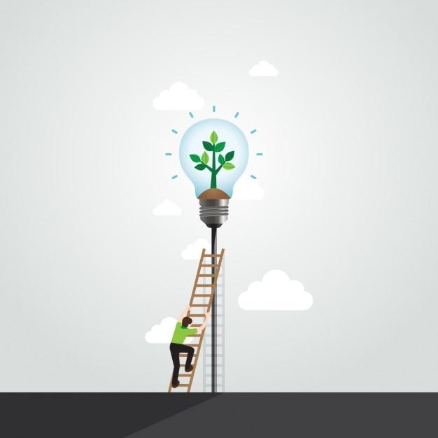 Ecologie achtergrond ontwerp Gratis Vector
