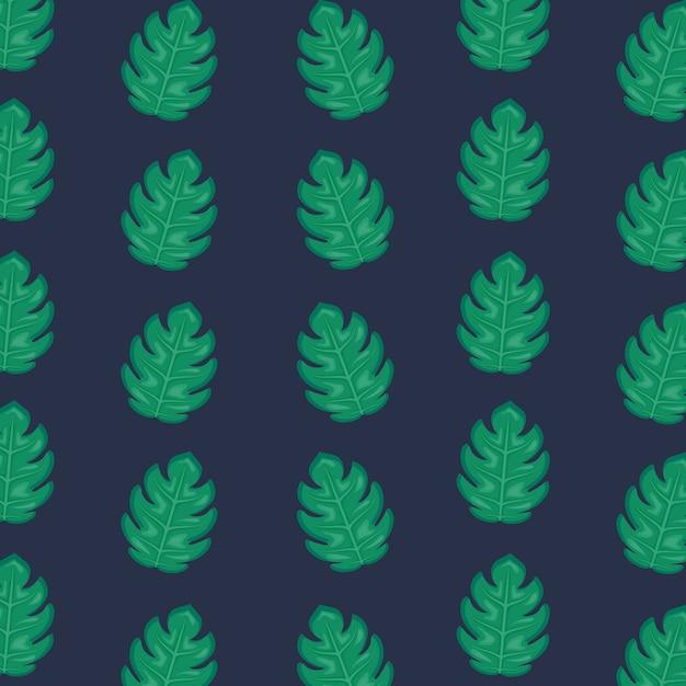Ecologie bladeren planten patroon Premium Vector