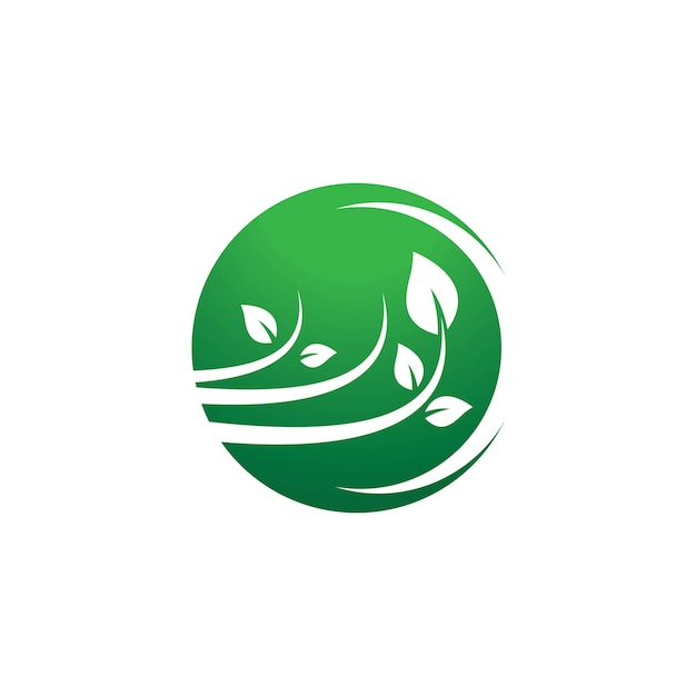 Ecologie logo pictogram illustratie Premium Vector