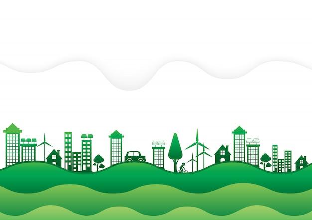 Ecologie milieuvriendelijk. Premium Vector