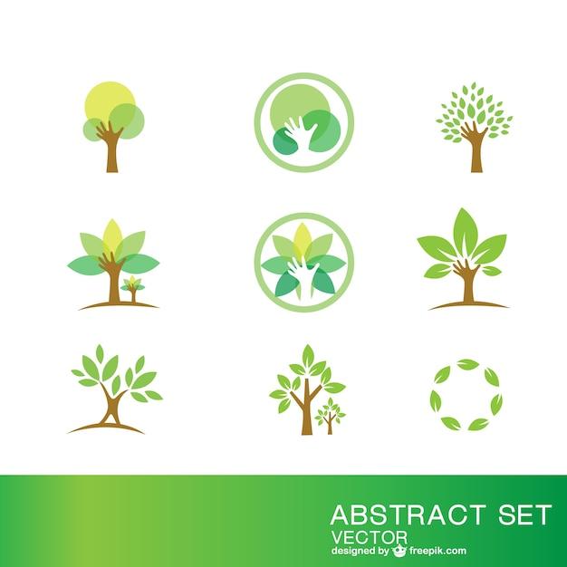 Ecologie symbolen set Gratis Vector