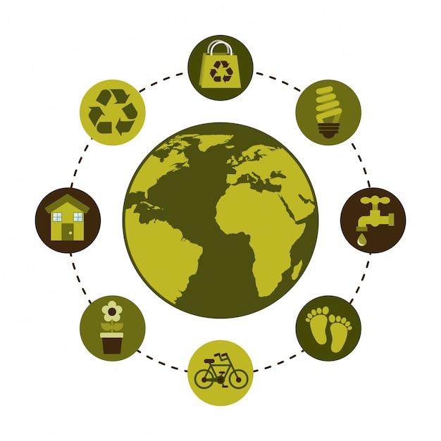 Ecologisch design Premium Vector