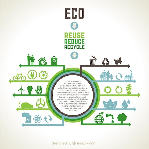 Ecologische infographic Gratis Vector