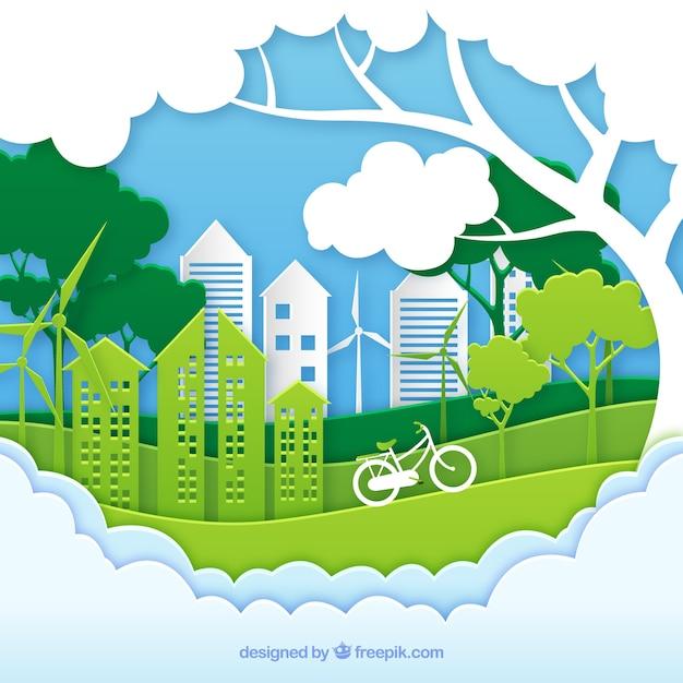 Ecosysteemconcept Gratis Vector