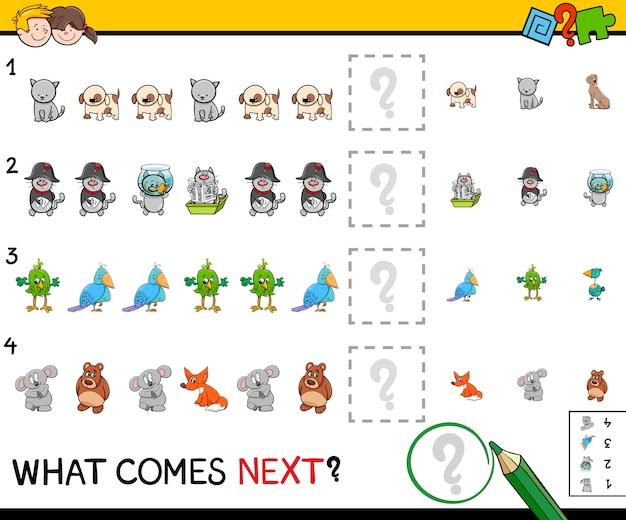 Educatief patroonspel voor kinderen Premium Vector