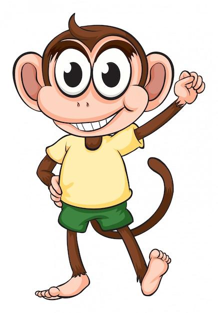 Een aap Gratis Vector