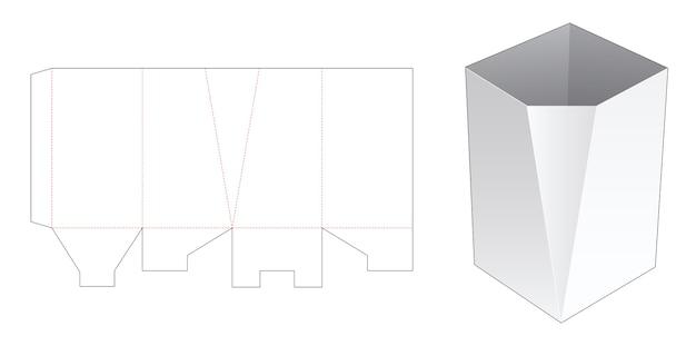 Een afgeschuinde sjabloon voor briefpapier Premium Vector