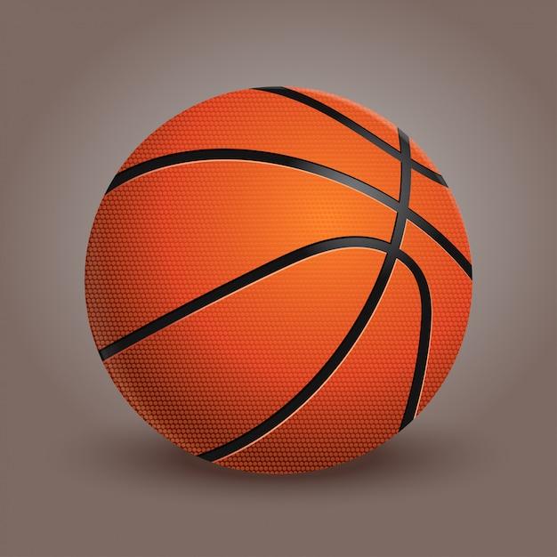 Een basketbal Premium Vector