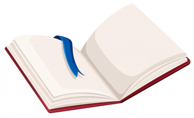 Een blanco open boek Gratis Vector