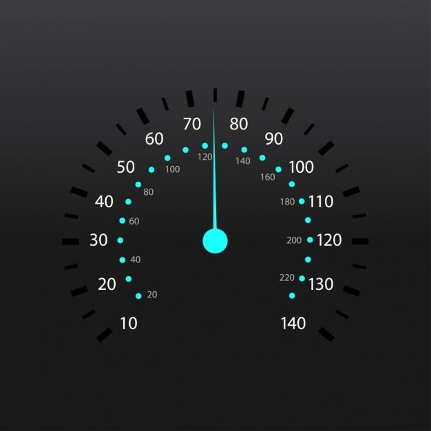 Een brandstofmeter snelheidsmeter vector illustratie Gratis Vector