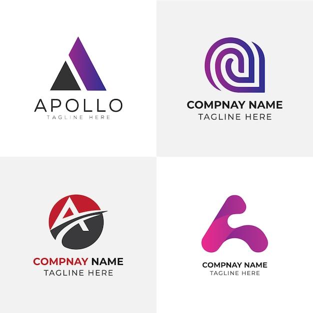 Een brief logo template | letter logo | logo ontwerp Premium Vector